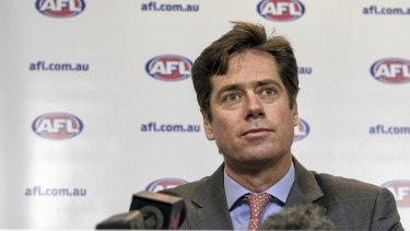 AFL CEO Gillon McLachlan's end-of-season bye is not popular with the players.