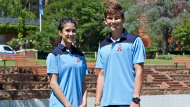 Canberra Grammar School's uniform, including shorter socks and lightweight fabrics, reflects the school's choice to make uniforms more suitable for the climate.
