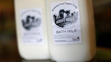 Mountain View Organic Dairy Bath Milk.