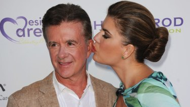 Alan Thicke, left, and his wife Tanya Callau in 2013.