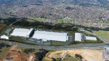 The former Woolworths distribution facility at Hoxton Park owned by Mirvac and now leased to DV Schenker.