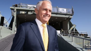 Prime Minister Malcolm Turnbull in Fremantle on Monday.