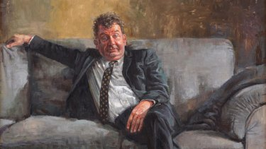 Phil Meatchem's portrait of Francis Greenslade, 'Aah yeah, that guy' (detail).