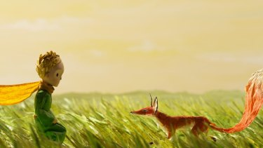 The Little Prince with the fox in a new adaptation of the classic book.