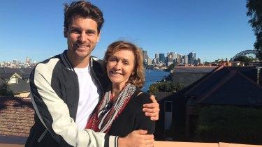 The Bachelor's new man Matthew 'Matty J' Johnson with his mum Ellie Johnson.