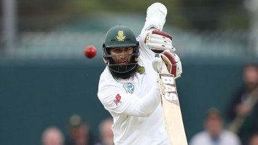Struggling: South African batsman Hashim Amla has been dismissed cheaply in all bar one of his four innings so far in the series against Australia.