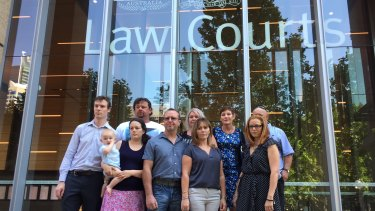 Residents of Williamtown at the Federal Court in Sydney on Tuesday.