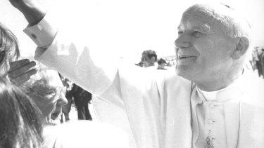 Pope John Paul II in the 1980s.
