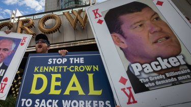 Casino giant Crown is facing the prospect of a long and hostile union fued.