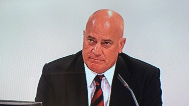 Mr Sasse during questioning at the commission.