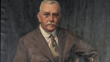 Norman Carter's 1936 portrait of Howard Hinton (detail shown) will be exhibited at Hazelhurst Regional Gallery.