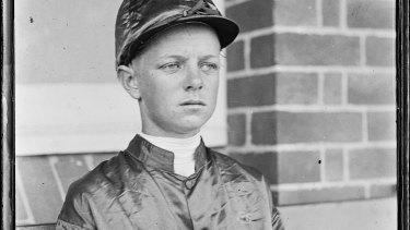 Jockey Edgar Britt, New South Wales, 1930.