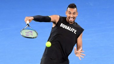 Happy: While Bernard Tomic is self-destructing, Nick Kyrgios seems to have turned a corner.