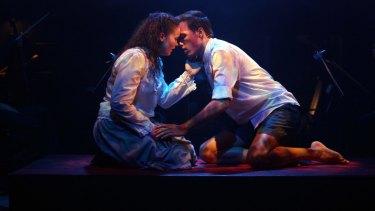 Jessica Rookeward and James Raggatt in Spring Awakening.