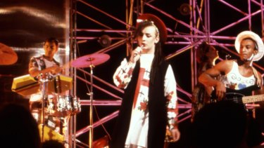 Culture Club in their heyday, performing on the UK's Top of the Pops.