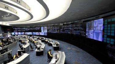 MTR's high-tech operation command centre in Hong Kong.