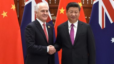 Prime Minister Malcolm Turnbull and Chinese President Xi Jinping meet at the West Lake State Guest House in Hangzhou ahead of the G20 leaders' summit..