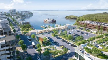 The latest concept plans for the Walker Group's Toondah Harbour project.