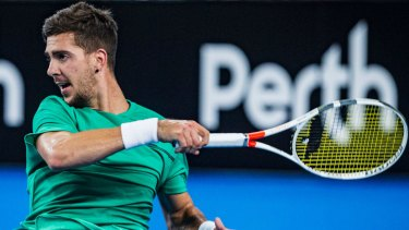 Test of faith: Thanasi Kokkinakis contemplated quitting the sport after suffering a series of injuries.