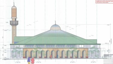 Plans for the mosque proposed for Belgrave-Hallam Road in Narre Warren.