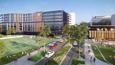 Parramatta pull-out: An artist's impression of the Commonwealth Bank's new buildings due for completion in 2020 at Australian Technology Park near Redfern.