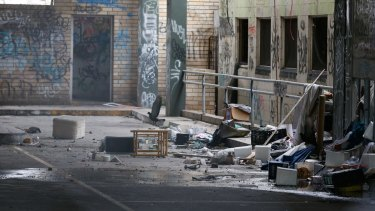"""The old Balmain Leagues Club is a """"blight on the community"""", says Tigers chairman Leslie Glen."""