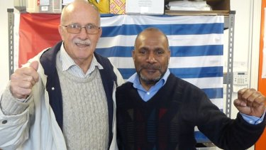 Peter King with Benny Wenda, spokesman for United Liberation Movement of West Papua.