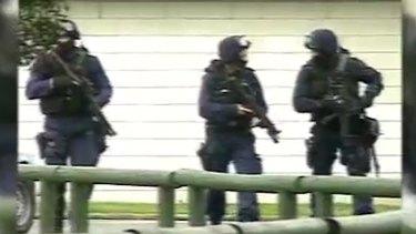 Police during Nigel Parodi's rampage
