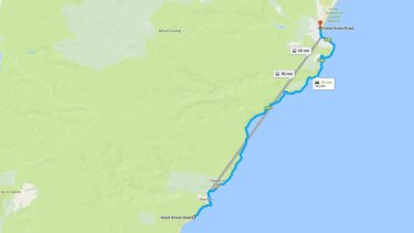 This stretch of the Great Ocean Road remains closed.