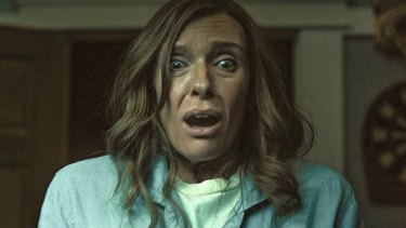 Toni Collette in a scene from Hereditary.
