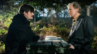 Sam Riley and Bill Nighy play a father and son struggling to communicate in Sometimes Always Never.