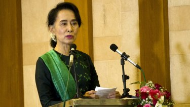 """Stability is very important for the election period"": Aung San Suu Kyi."