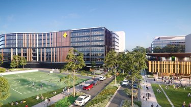 An artist's impression of the Commonwealth Bank's new buildings due for completion in 2020 at Australian Technology Park near Redfern.
