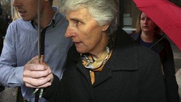 The mother of murdered teacher Stephanie Scott outside court on Wednesday.