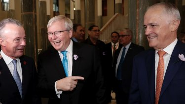 Kevin Rudd and Malcolm Turnbull  are two of the eight ex PMs.