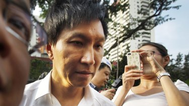 City Harvest Church founder Kong Hee arriving at court in July 2012. He has been convicted of fraud.