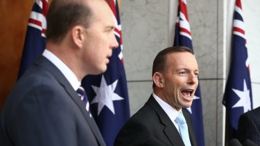 Immigration Minister Peter Dutton and Prime Minister Tony Abbott.