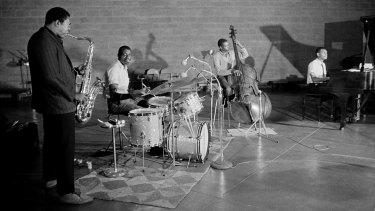The John Coltrane Quartet, jazz's most explosive band, records at Rudy Van Gelder's legendary studio.