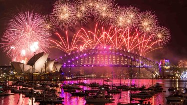 New Year's Eve in Sydney.