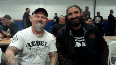 Man Monis with a Rebels member.