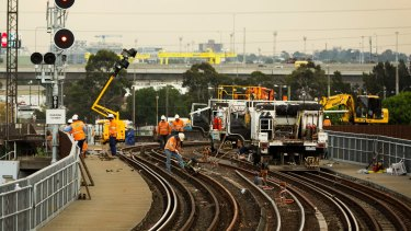 Eight hundred metres of track between Southern Cross and North Melbourne stations needs to be replaced.