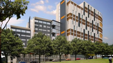 Artist impression of the new 522-room student accommodation facility to be built as part of the Pemulwuy Project at The Block in Redfern.