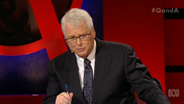 Persistent ... Q&A host Tony Jones got the goat of Bill Shorten with a firm line of questioning.