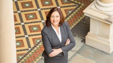 Steady as she goes: Queensland Premier Annastacia Palaszczuk.