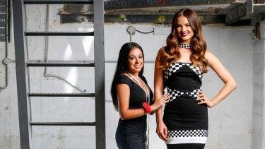Model Laura Henshaw showcases designer Stephanie Pavlou's winning dress.