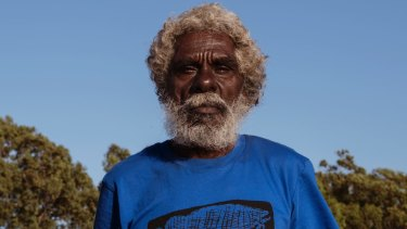 John Mawurndjul in Maningrida. The artist sees his paintings as a powerful tool for communication across cultures.