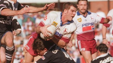 Found to have had brain damage: Former NRL star Ian Roberts.