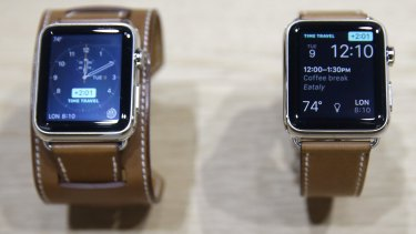 The new Apple Watch with a Hermes band.
