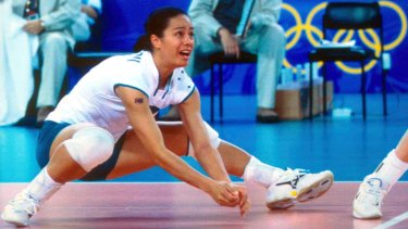 Christie Mokotupu plays for Australia during the 2000 Sydney Olympic Games.