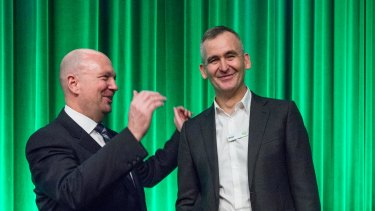 Chairman Gordon Cairns and CEO Brad Banducci, of Woolworths.